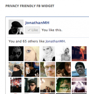 WordPress Widget: Privacy Friendly Facebook Social Plugins