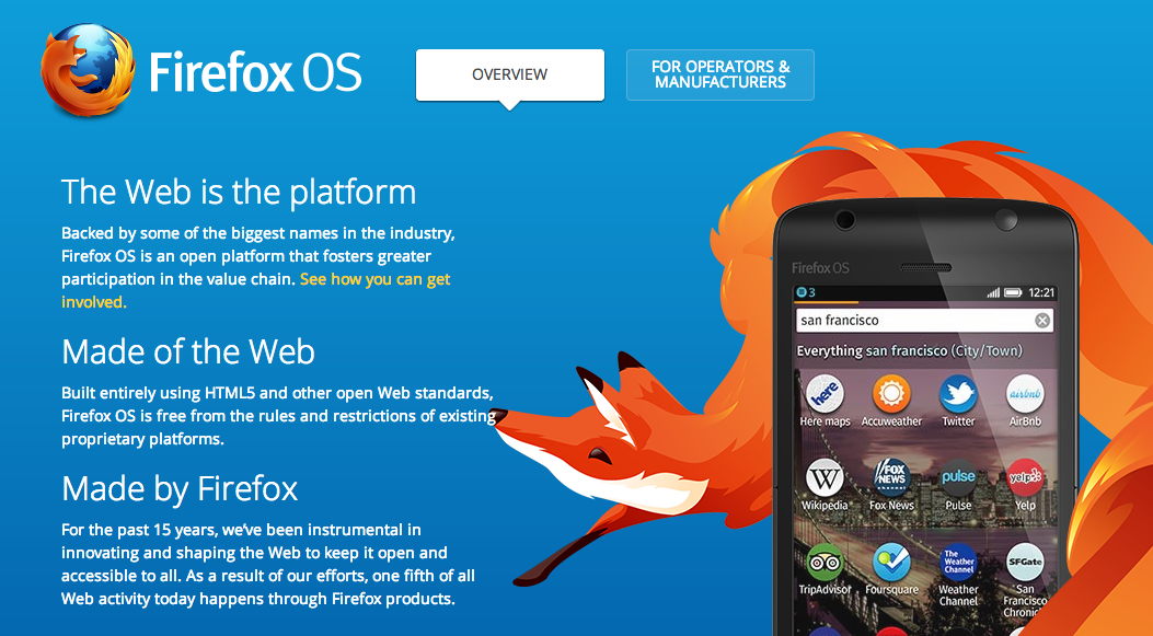 Firefox OS – The Web goes Native