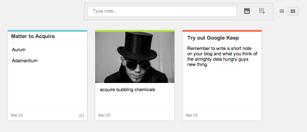 Replace your Memory with Google Keep