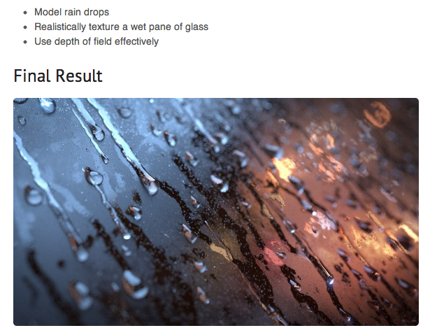 Blender Guru: rain on glass