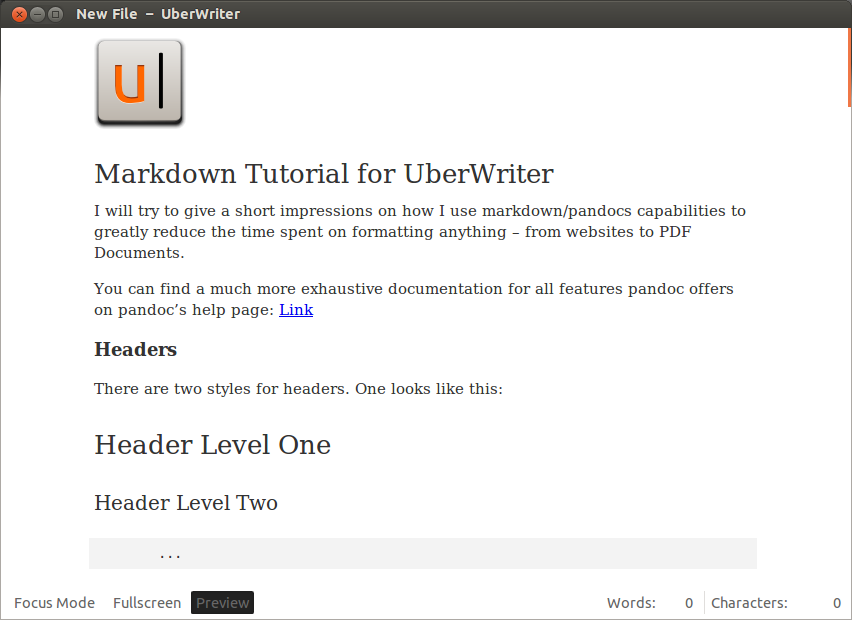 UberWriter: a MarkDown Editor for Linux
