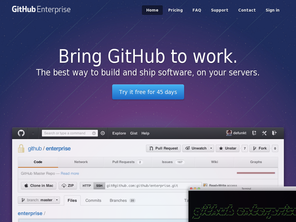 Private Github Enterprise Alternatives