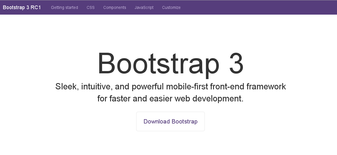Twitter Bootstrap 3 RC 1: most important changes