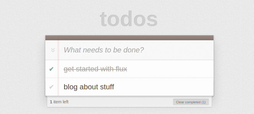 Trying out the Facebook Flux Examples
