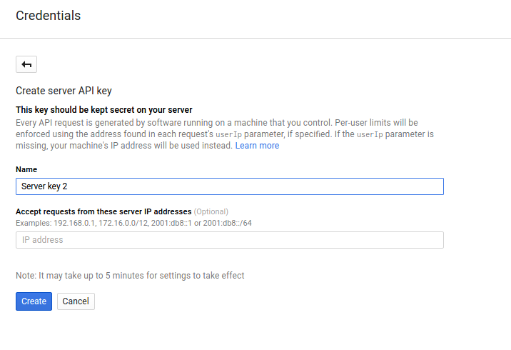 how to get google api key for website