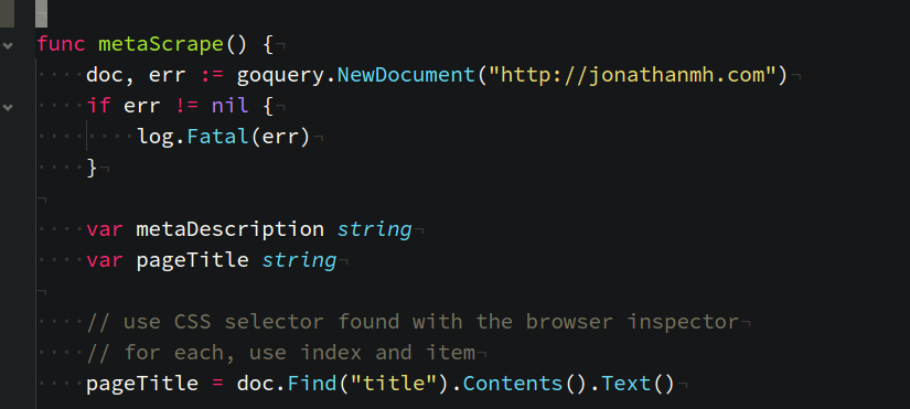Web Scraping with Golang and goQuery