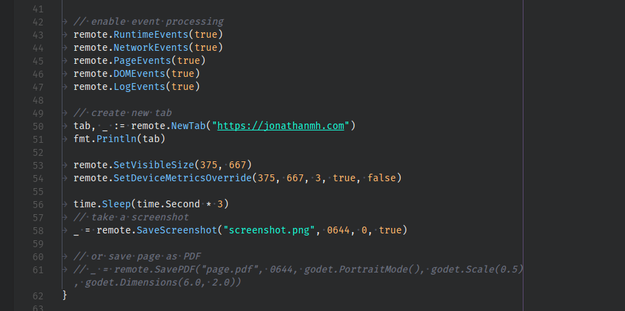 Taking Screenshots with Headless, The Chrome Debuggping