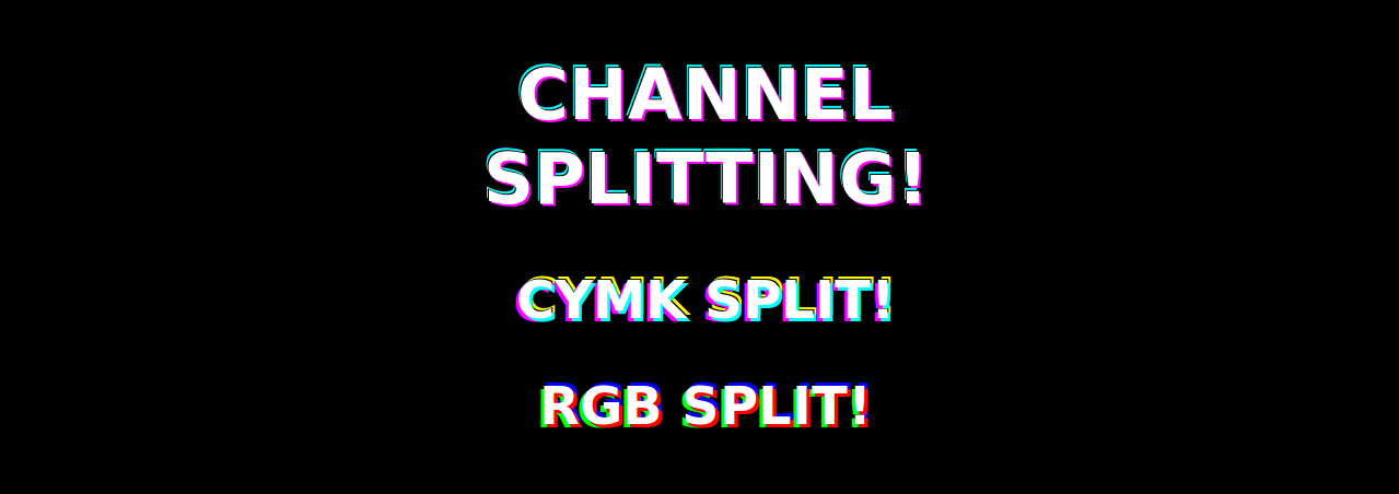 CSS RGB/CMYK Channel Splitting