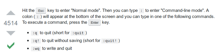 stack overflow how to quit vim